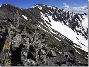 中白峰付近から間ノ岳