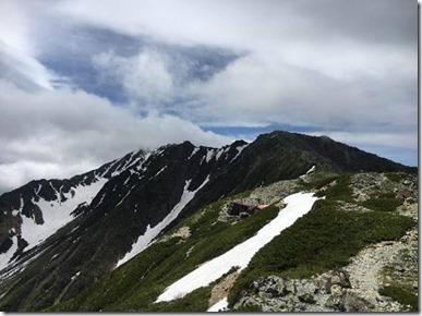 0702北岳山頂・間ノ岳方面