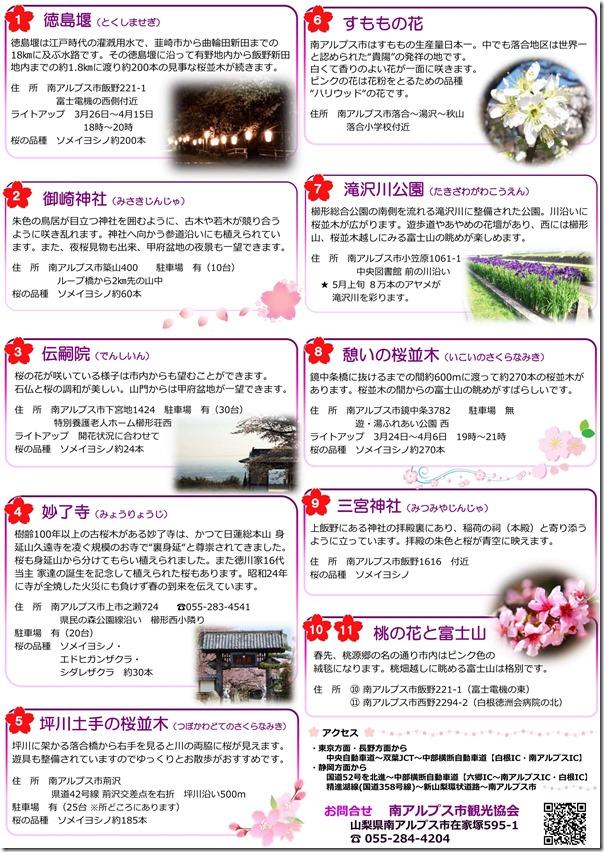 お花見マップ裏2