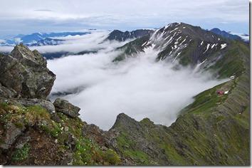 北岳からの間ノ岳