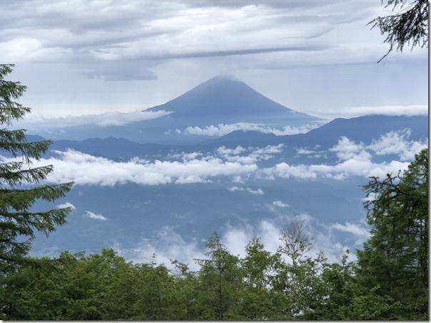 0708櫛形山から富士山